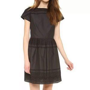 Madewell Latticework Black Dress A2235